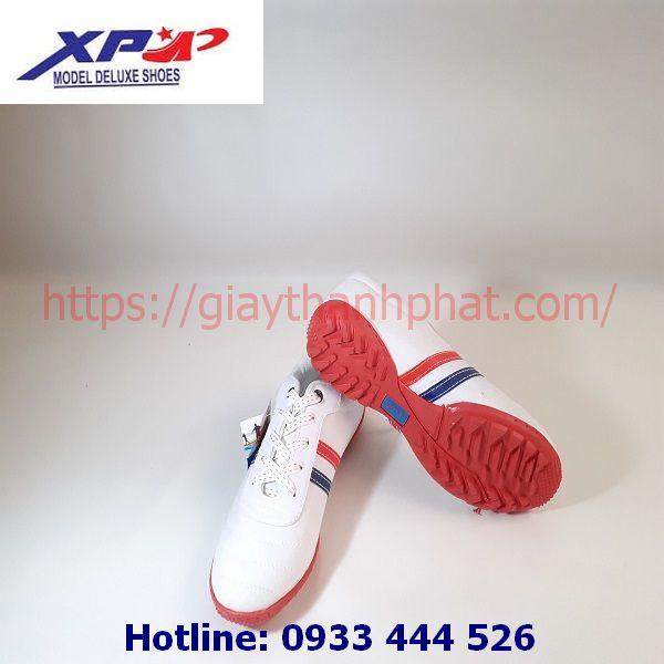 Giày vải đá bóng XP TP11 màu trắng đế đỏ